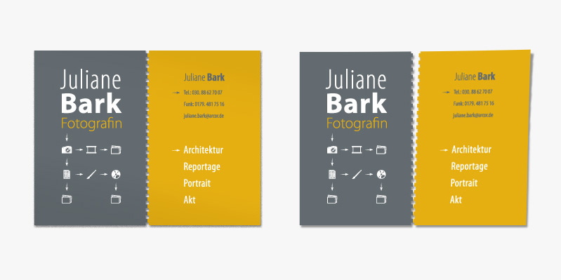 Juliane Bark, Fotografin · Corporate Design